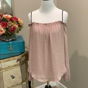 Off the shoulder blush blouse by Forever 21